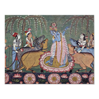 Scene Râgmâlâ Series: Krishna With His Flute By In Card