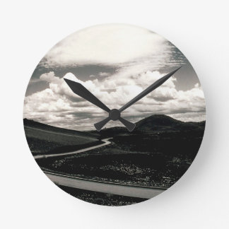 Scene Road Craters Of The Moon Wallclock