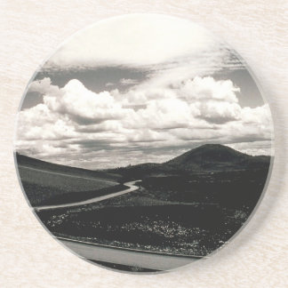 Scene Road Craters Of The Moon Drink Coaster
