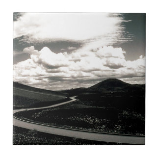 Scene Road Craters Of The Moon Ceramic Tile