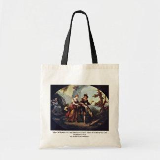 Scene With Miranda And Ferdinand Oval Tote Bag