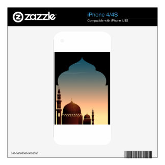 Scene with mosque at twilight decal for the iPhone 4S