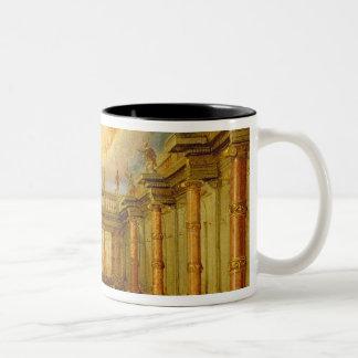 Scene X: the courtyard of the King of Naxos Two-Tone Coffee Mug