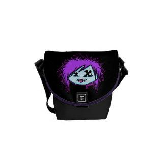 Scene Zombie (on dark background) Messenger Bag