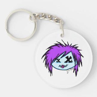 Scene Zombie Single-Sided Round Acrylic Keychain