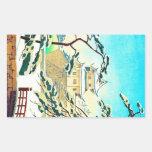 Sceneart japonés oriental fresco del castillo del  rectangular altavoces