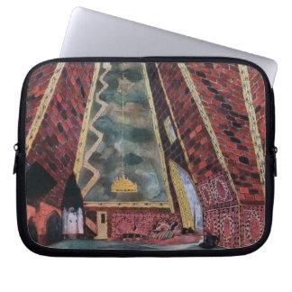 Scenery design for Thamar, 1912 (colour litho) Laptop Sleeve