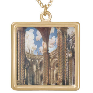 Scenery design for the Betrothal, from Sleeping Be Gold Plated Necklace