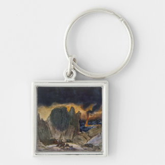 Scenery design from Phedre, 1917 (colour litho) Keychain