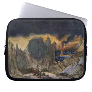 Scenery design from Phedre, 1917 (colour litho) Laptop Sleeve