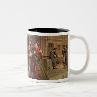 Scenery for the scene with Mimi and Rodolfo Two-Tone Coffee Mug