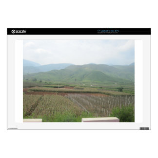 scenery grass mountain sky land laptop decal
