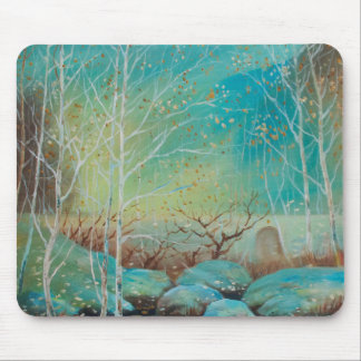 Scenery,Nature patterns,Oil painting landscap Mouse Pad