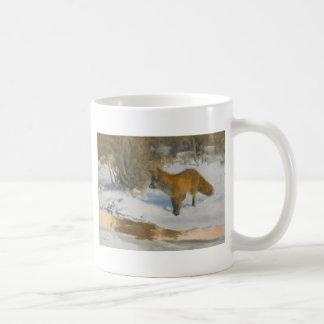 Scenery of fox and winter coffee mug