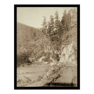 Scenery on Deadwood Road to Sturgis SD 1888 Print