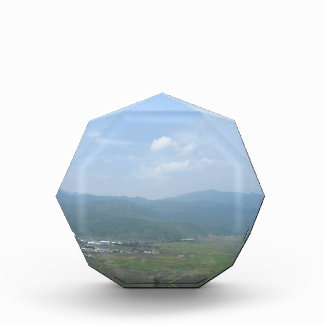 scenery sky mountain land grass acrylic award
