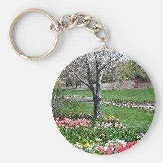 scenery,springtime keychain