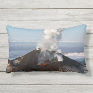 Scenery view of volcanic activity outdoor pillow