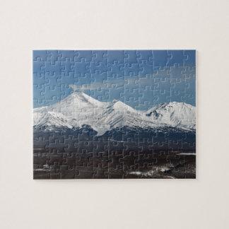 Scenery winter panorama of Kamchatka volcanoes Jigsaw Puzzle