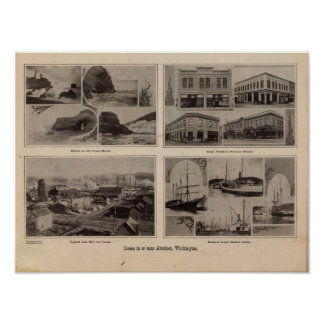 Scenes Aberdeen, Wash Poster