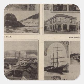 Scenes Aberdeen, Wash Square Sticker
