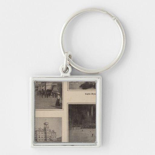 Scenes Aberdeen, Washington Silver-Colored Square Keychain