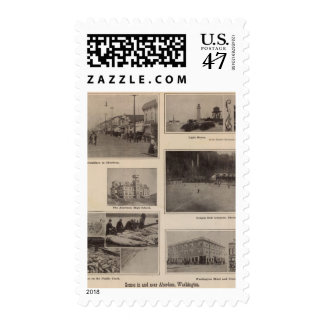 Scenes Aberdeen, Washington Postage