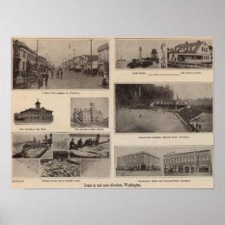 Scenes Aberdeen, Washington Poster