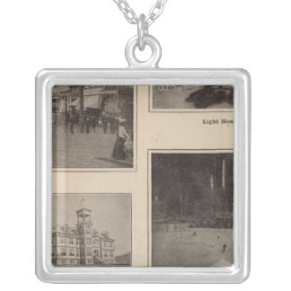 Scenes Aberdeen, Washington Silver Plated Necklace