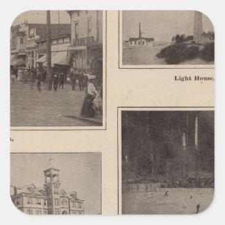Scenes Aberdeen, Washington Square Sticker