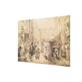 Scenes and Morals of Paris Canvas Print