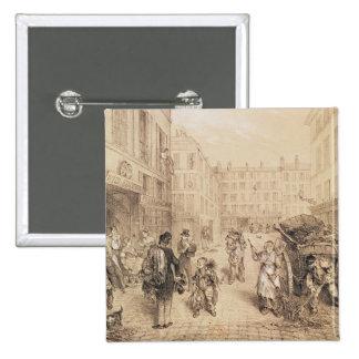 Scenes and Morals of Paris Pinback Button