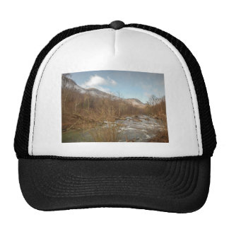 scenes around chimney rock north carolina lake lur trucker hat