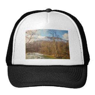 scenes around chimney rock north carolina trucker hat