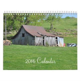 Scenes Around Tennessee & Vermont - 2016 Calendar