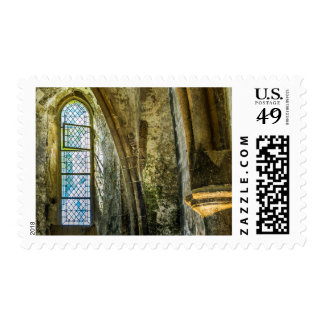 Scenes From A French Abbey Postage Stamp