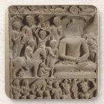 Scenes from Buddha's life, Sarnath, Uttar Pradesh Drink Coaster