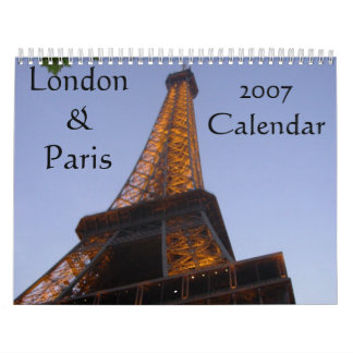 Scenes from London & Paris Calendar