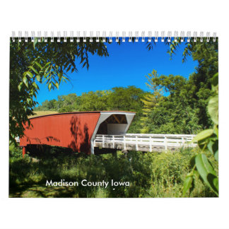 Scenes from Madison County Iowa Calendar