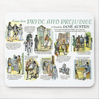 Scenes from Pride and Prejudice Mouse Pad