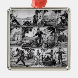 Scenes from 'Robinson Crusoe' by Daniel Defoe Metal Ornament