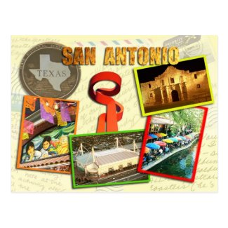 Scenes from San Antonio, Texas Post Card