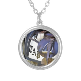 Scenes from Saratoga Silver Plated Necklace