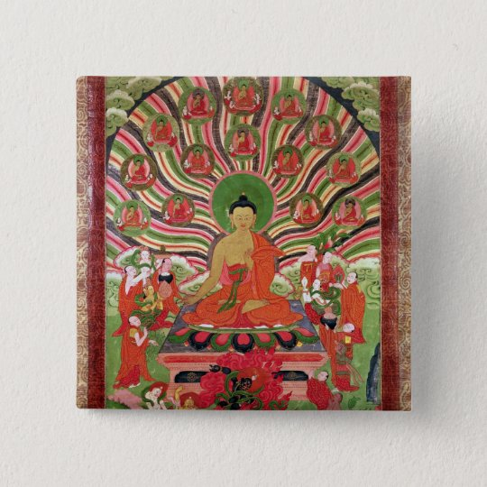 Scenes from the life of Buddha Button