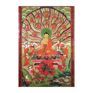 Scenes from the life of Buddha Canvas Prints