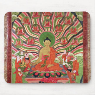 Scenes from the life of Buddha Mouse Pad