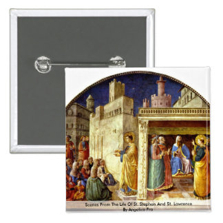 Scenes From The Life Of St. Stephen 2 Inch Square Button
