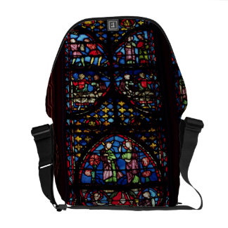 Scenes from the Old Testament, 13th century (stain Messenger Bag