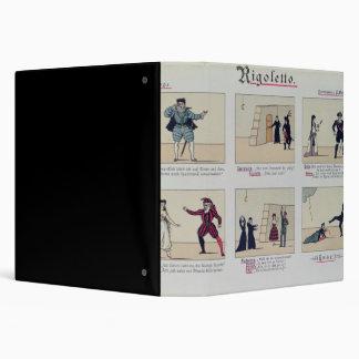 Scenes from the Opera 'Rigoletto' 3 Ring Binder