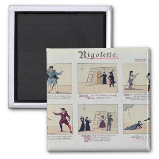 Scenes from the Opera 'Rigoletto' Magnet